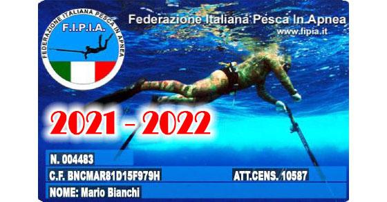 Tessera fipia campagna 2021-2022 FB
